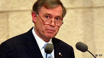 Horst Köhler in der Knesset