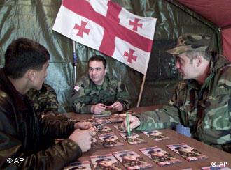 Запись добровольцев в Грузии на американский инструктаж (фото из архива)
