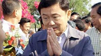 der frühere Premierminister Thaksin Shinawatra, Foto: AP