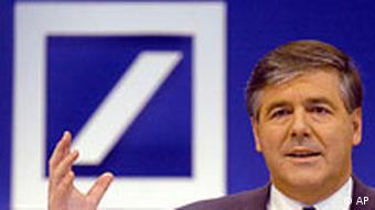 Deutsche Bank chief executive Josef Ackermann