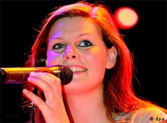 German Band Juli's lead singer Eva Briegel