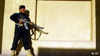 Irakischer Polizist vor der Wahl