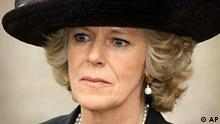* FILE ** Camilla Parker Bowles, long-term partner of Prince Charles, leaves a memorial service for Princess Margaret, at London's Westminster Abbey in this Friday, April 19, 2002 file photo. Prince Charles is to marry his partner Camilla Parker Bowles, the prince's office said Thursday, Feb. 10, 2005. (AP Photo/Stephen Hird/Pool)