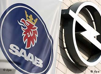 Saab and Opel logos