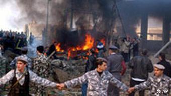 Libanon Bombenanschlag ehemaliger Premierminister Rafik Hariri getötet