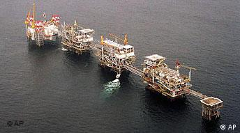 Öl in Angola Öltanker