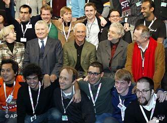 Beckenbauer y los ganadores de Shoot goals - shoot movies.