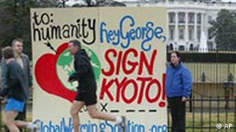 Demonstration für Kyoto in Washington