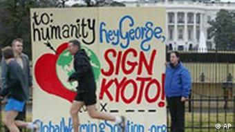 Demonstration für Kyoto in Washington