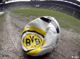 A punctured Dortmund football