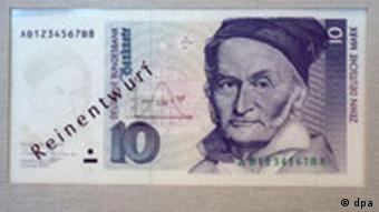 Carl Friederich Gauss on a 10 Mark note