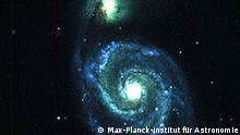 Wechselwirkende Galaxien: Spiralgalaxie Messier 51