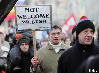 This isn't be the first time Bush is unwelcome in Germany