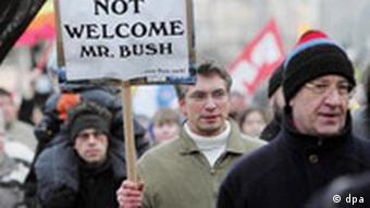 Bush-Besuch in Deutschland - Demonstration in Kassel