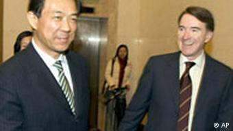 EU Peter Mandelson in China