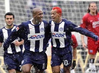 Marcelinho Paraíba e Gilberto, dupla Hertha Berlim