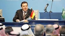 Schröder in Saudi-Arabien