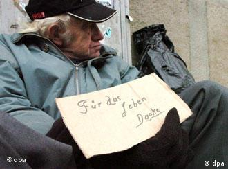 Homeless person on the street