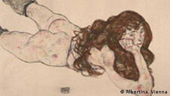 زن برهنه روی شکم، شیله، ۱۹۱۵