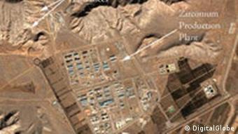 Iran Luftaufnahme vom Atomanlage