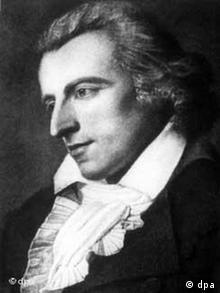 A portrait of dramatist and poet Friedrich Schiller