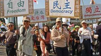Demonstration in Taiwan