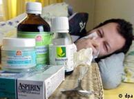 ¿Síntomas de gripe? - ¡Quédese en casa y llame el médico, beba y no haga ejercicio de ninguna índole!