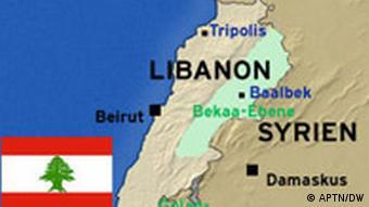 Libanon Karte