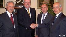 Intendant Erik Bettermann und der Vorstands- vorsitzende des libanesischen Fernsehsenders National Broadcasting Network (NBN), Nasser Safieddine, haben vergangene Woche eine Kooperation vereinbart.