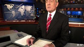 Dan Rather gibt Abschied als CBS-Nachrichtenmoderator bekannt