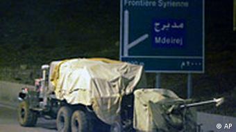 Syrische Truppen in Libanon auf dem Weg zur Grenze