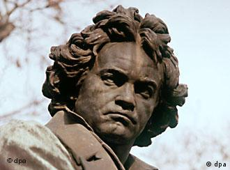 The frowning face on a Beethoven monument in Vienna