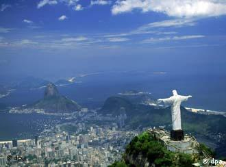 View of the statue of Christ in Rio de Janeiro