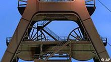 Der Förderturm der Zeche Zollverein in Essen