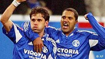 Lincoln und Ailton von Schalke 04