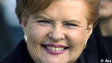 Vaira Vike-Freiberga, Präsidentin der Republik Lettland, aufgenommen am 18.3.2003 in Berlin. Foto: dpa