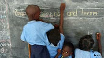 Chidren at a school in Africa