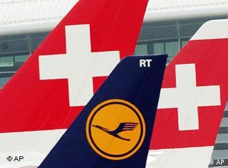 Swiss and Lufthansa logos