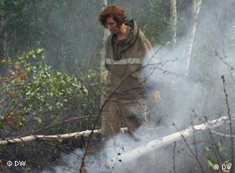 Добровольный лесной пожарный Наталья Максимова