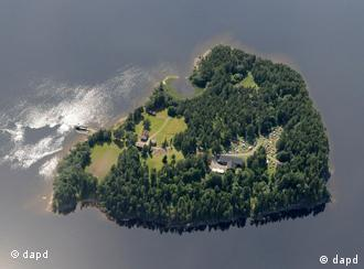 The island seen from above
