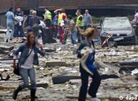 اسلو پس از انفجار بمب در مرکز شهر
