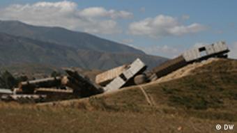 Abandoned train wagons