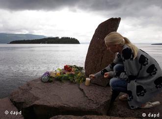 Girl placing flowers
