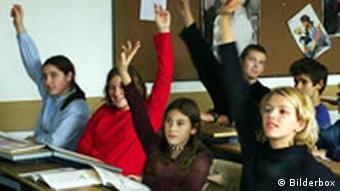 Schülerinnen während des Unterrichts