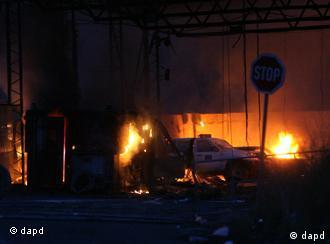 Granični prelaz Jarinje zapalili huligani