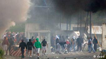 A border crossing burns it in the village of Jarinje, on the Serbia-Kosovo border