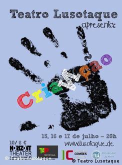 Cartaz da peça CriaNção do grupo de teatro Lusotaque