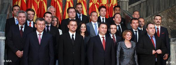 NO FLASH Mazedonisches Kabinett