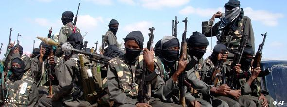 Al-Shabaab-Milizen nahe Mogadischu (Foto: AP)