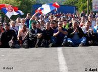 Pamje nga demonstratat në veri të Kosovës